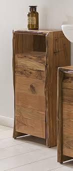 kawola badezimmer schrank klein loft edge akazie massiv holz baumkante b h t 40x80x20cm