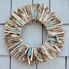 Driftwood Christmas Trees Nz by 10 Maine Driftwood Wreath With Sea Glass Turquoise