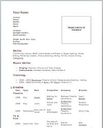 Beginner Resume Examples Acting Sample For Beginners Awesome Collection Of Theatre Actors