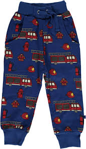Sweat Pants With Fire Truck | Www.smafolk.dk