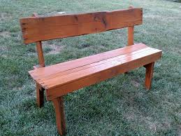 Small Garden Pallet Wood Bench