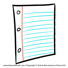 Notebook clipart loose leaf paper Pencil and in color notebook