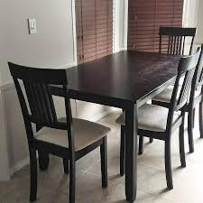 Espresso Dining Table And 4 Chairs