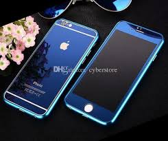 For Iphone 6 6plus Fashion 2in1 Metal Bumper Full Body Mirror