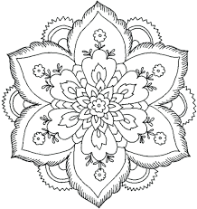 Printable Coloring Pages Nature Adults Sheets Beautiful Download Print Flower Mandala Full Size