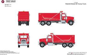 100 Red Dump Truck Buffalo Road Imports Peterbilt 367 Flame Silver