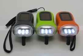 le de poche a manivelle multi couleur portable cadeau extérieure 3 led cordon torche