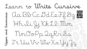 Write Cursive Alphabets Uppercase and Lowercase Letters