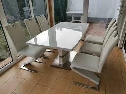 esstisch mit 6 stühlen segmüller 190 x 60 cm