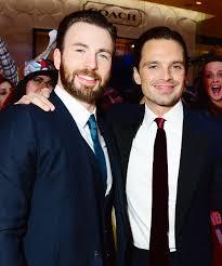 Chris Evans And Sebastian Stan At The European Film Premiere Of Captain America Civil War Vue Westfield On April 2016 In London England