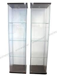 lot de 2 vitrines ikea detolf 163x43x37 cm cle 3 authenticité