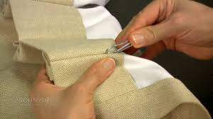 Sewing Curtains For Traverse Rods by Inserting The Pin Hooks For Pinch Pleat Curtains Hung On Traverse