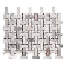 jeff lewis highland 9 7 8 x 12 7 8 in x 8 mm limestone mosaic