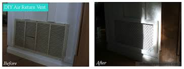 Decorative Air Return Grille by Diy Air Return Vent Dio Home Improvements