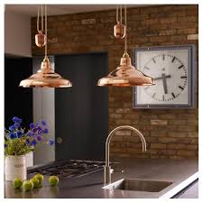 school light rise and fall polished copper pendant by original btc