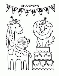 Animal Coloring Pages Kids Pics Of Animals