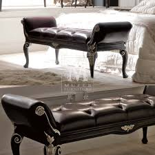 Bedroom Luxurious Espresso Bedroom Bench Design With Rolled Arms