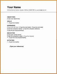 Resume For First Job 7 Templates Financial Statement Form Time Examples