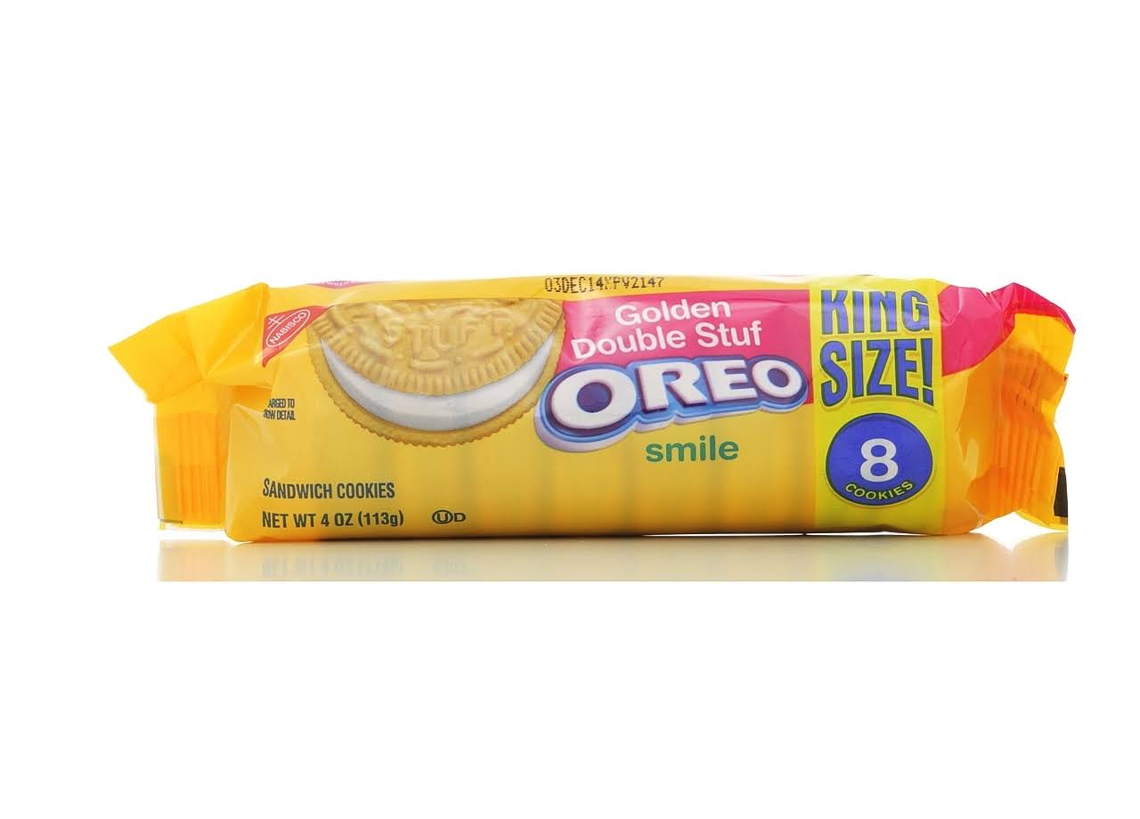 Nabisco Golden Oreo Double Stuf Sandwich Cookies - 8 Count