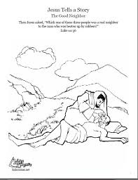 The Parable Of Good Samaritan Coloring Page Audio Bible Story And Script Available