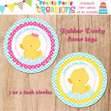 RUBBER DUCKY Favor Tags Baby Shower Or Birthday YOU Print
