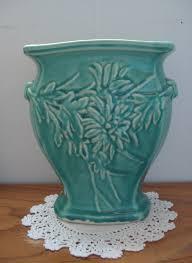 McCoy Turquoise Flower Vase Turquoise Pottery