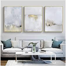 druck auf leinwand gold und weiß abstrakte leinwand malerei