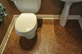 impressive cork floor in bathroom eco friendly and durable