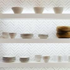 white and gray marble chevron kitchen backsplash tiles design ideas