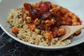 requia cuisine ragoût de chorizo pois chiches et tomates cerises pilaf de