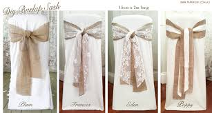 DIY Vintage Rustic Wedding Burlap Hessian Lace Sashes For Hire Buy