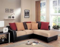 Poundex Bobkona Sectional Sofaottoman by Casual Look And Feel This Loose Pillow Back Design Offers Multi