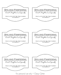 Spa And Pampering Printable This One