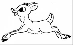 Incredible Rudolph The Red Nose Reindeer Coloring Pages With Page And Head