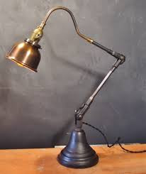 Vintage Industrial Style Desk Lamp w Copper Shade · DW Vintage