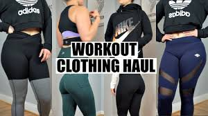 workout clothes haul u0026 try on nike pumpchasers ledbetter