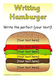 Editable Writing Hamburger Templates SB7319