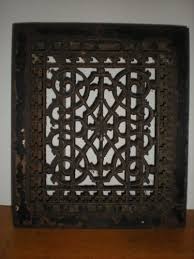 antique cast iron floor register ornate grate louvers heat