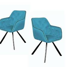 samt stuhl türkis blau mit lehne armlehne esszimmerstuhl stühle
