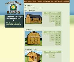 Cotton State Barns Website Design Blog