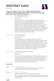 Marketing Representative Resume Example