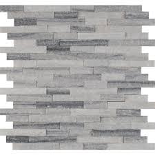 null alaska gray splitface 12 in x 12 in x 10 mm marble mesh