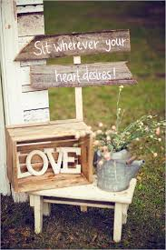 Vintage Barn Wedding With Wood Boxes And LOVE Letter Decor