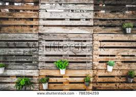 Grunge Texture Copy Space Green Thumb Pallets Wooden Background 788394259
