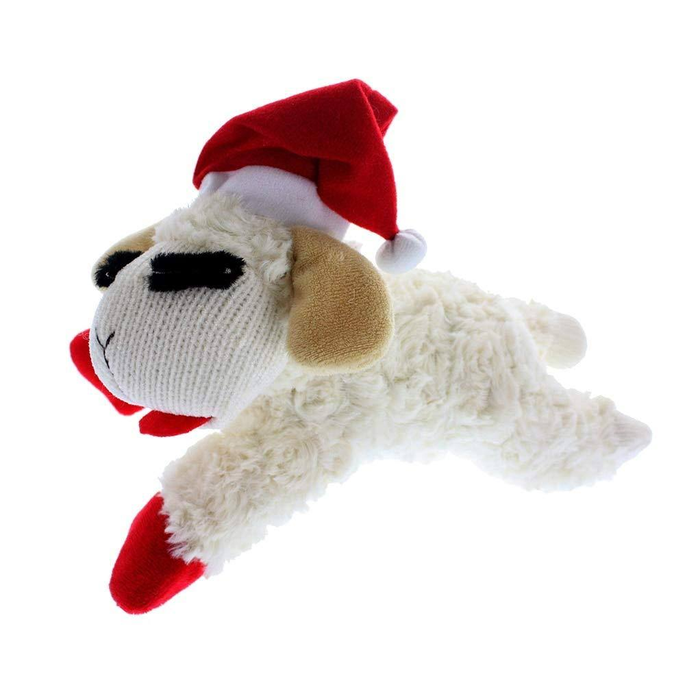 "Multipet Holiday Lambchop Dog Toy - 10"", Medium"