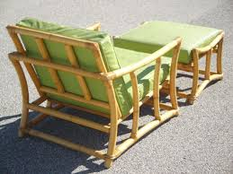 Ficks Reed Lounge Chair by 1960s Mid Century Frankl Style Ficks Reed Rattan Chair U0026 Ottoman