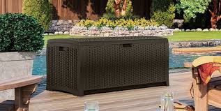 outdoor wicker storage boxes quality plastic sheds
