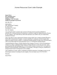 human resources cover letter experience resumes