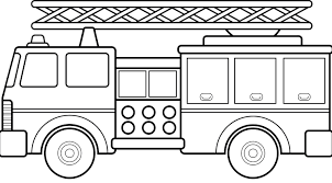 Beautiful Of Fire Truck Clipart Black And White - Letter Master