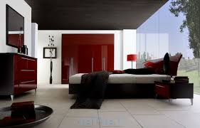 Bedroom Decorating Ideas Red Black And White